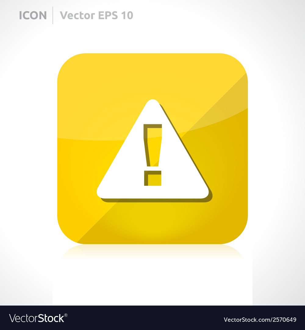 Warning icon vector | Price: 1 Credit (USD $1)