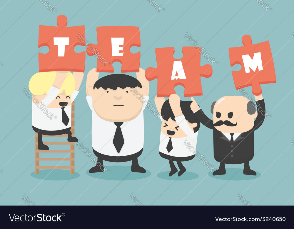 Business man team work vector | Price: 1 Credit (USD $1)