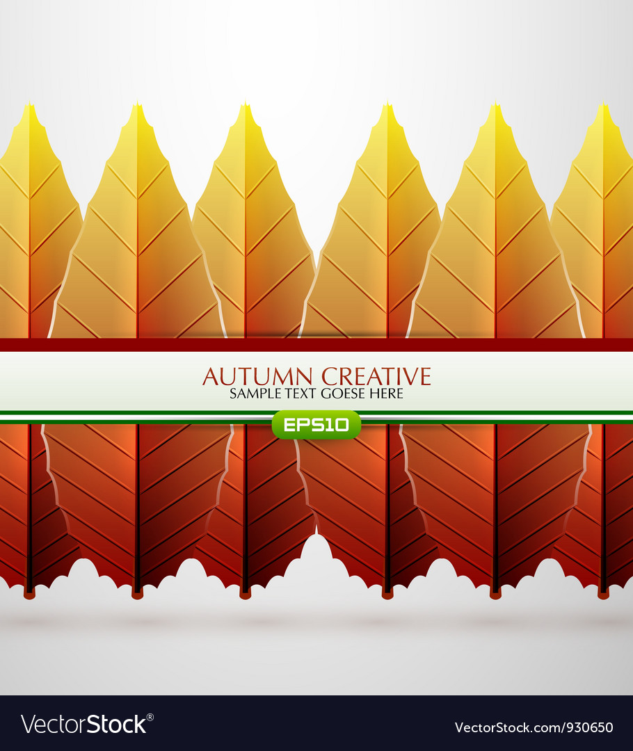 Creative autumn background vector | Price: 1 Credit (USD $1)