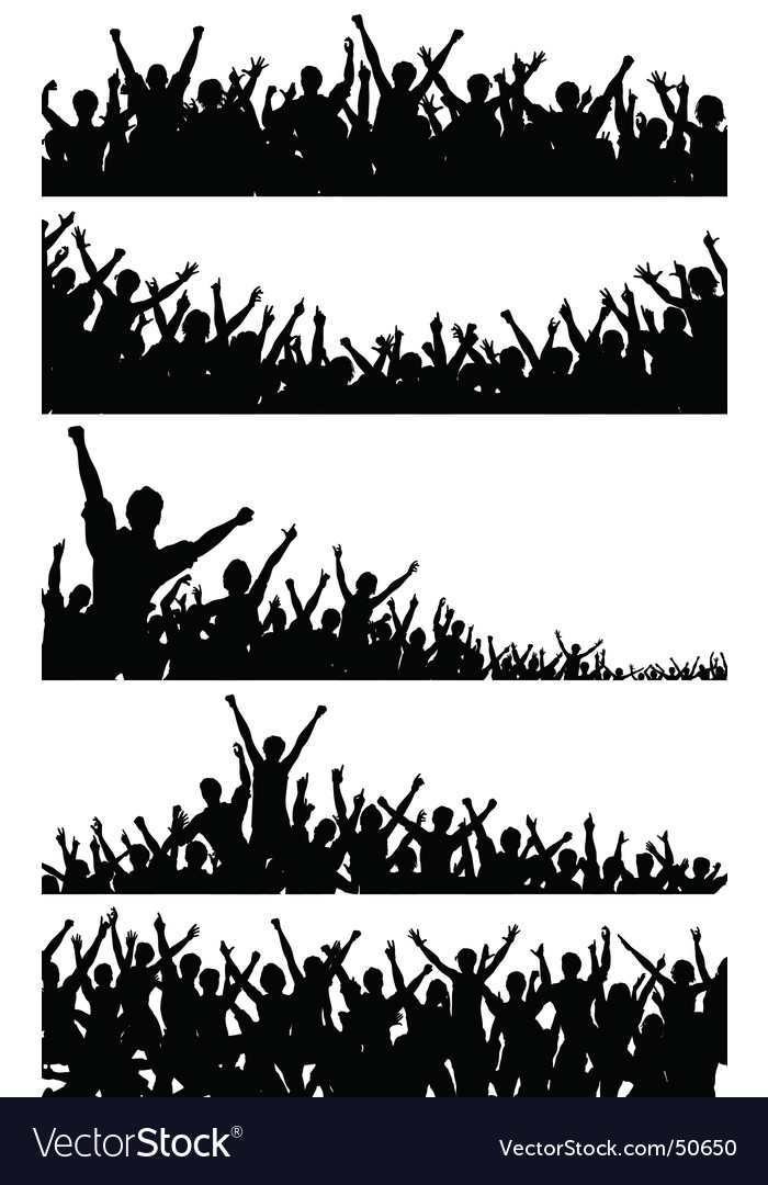 Crowd foregrounds vector | Price: 1 Credit (USD $1)