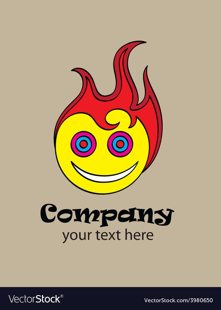 Hot smile logo vector