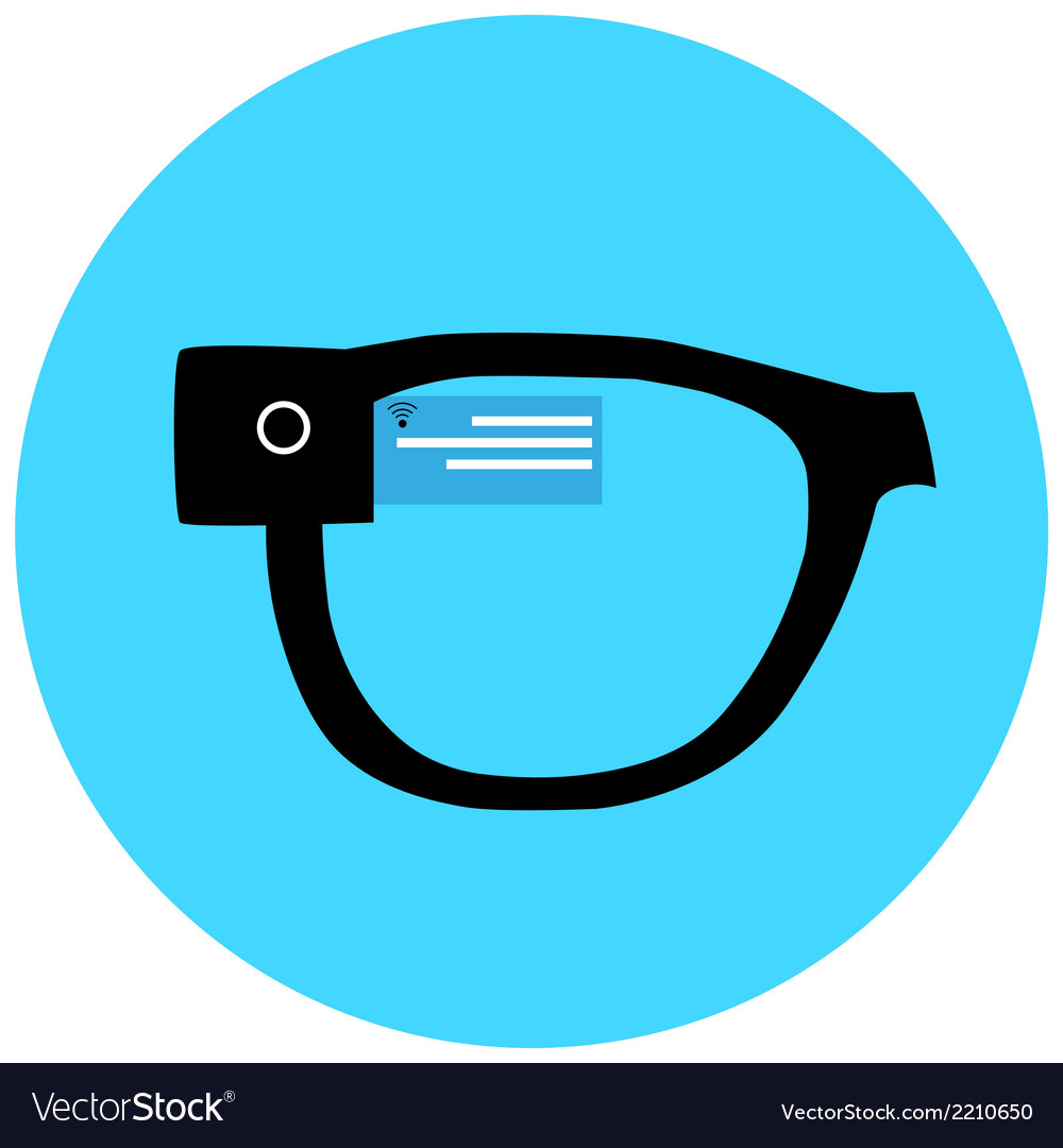 Smart hipster glasses icon vector | Price: 1 Credit (USD $1)