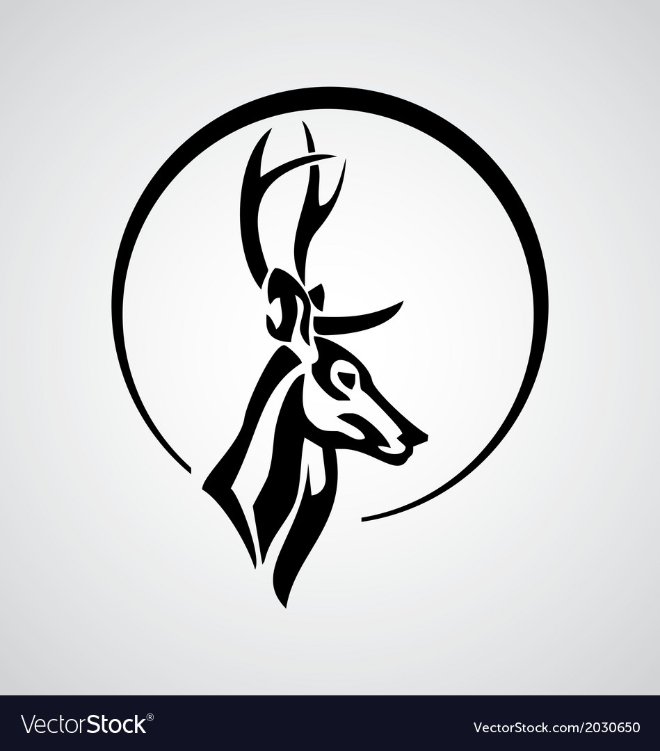 Tribal deer vector | Price: 1 Credit (USD $1)