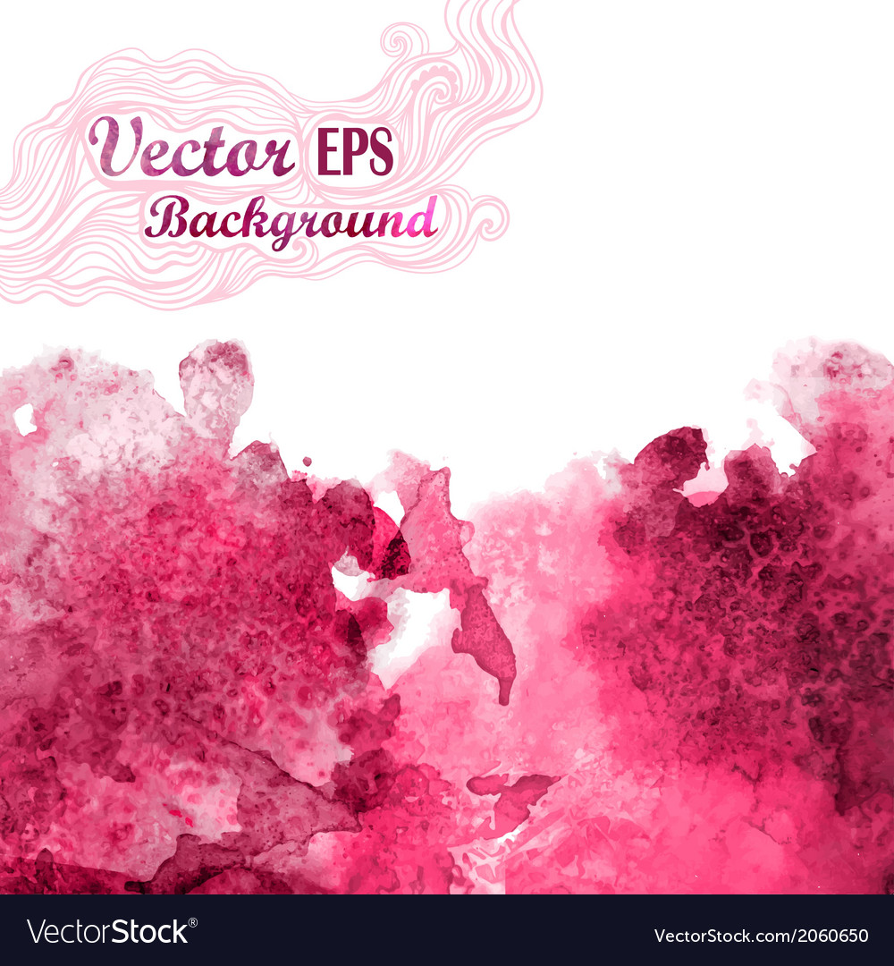 Wave in watercolor techniquegrunge backgrounddrop vector | Price: 1 Credit (USD $1)