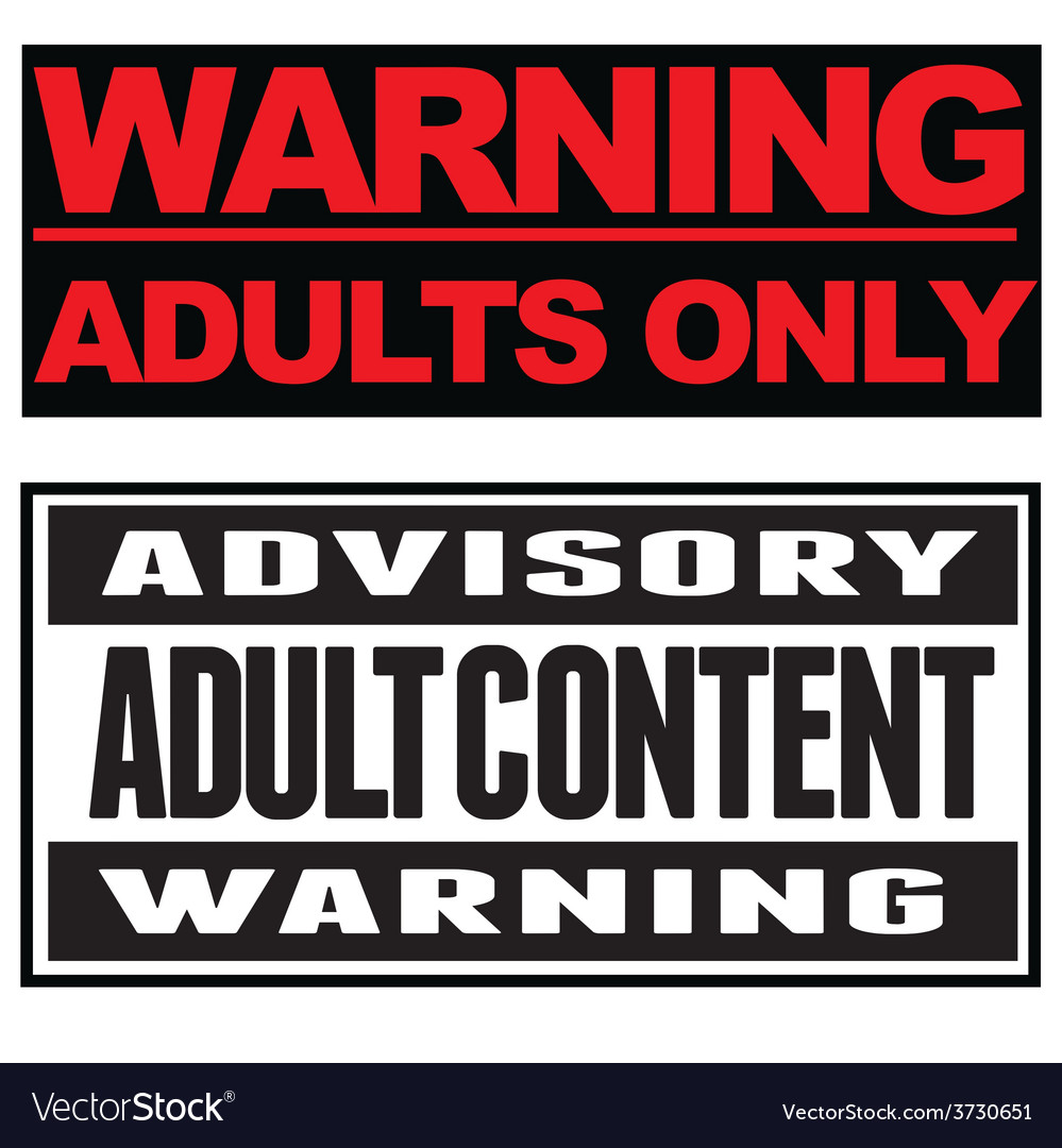Adult content typographical banners vector | Price: 1 Credit (USD $1)