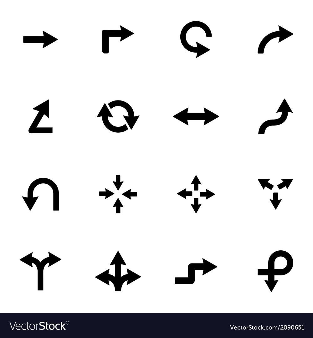 Black icon arrows icons vector | Price: 1 Credit (USD $1)
