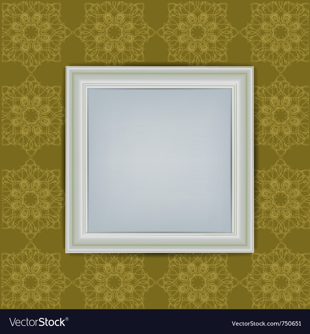 Blank white frame on wall vector | Price: 1 Credit (USD $1)