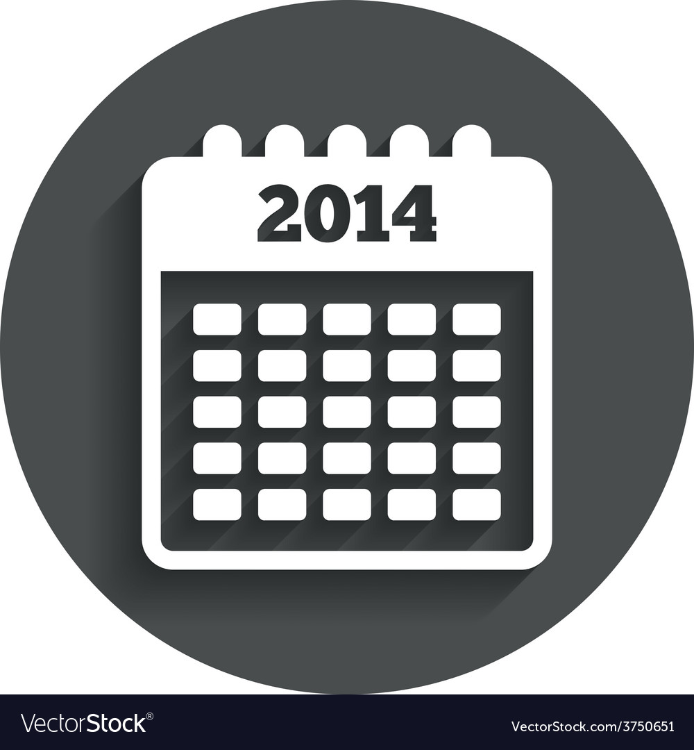 Calendar sign icon date or event reminder vector | Price: 1 Credit (USD $1)