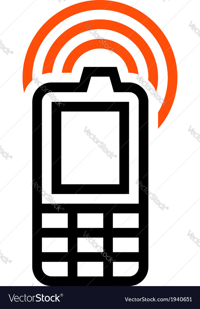 Cell phone icon vector | Price: 1 Credit (USD $1)