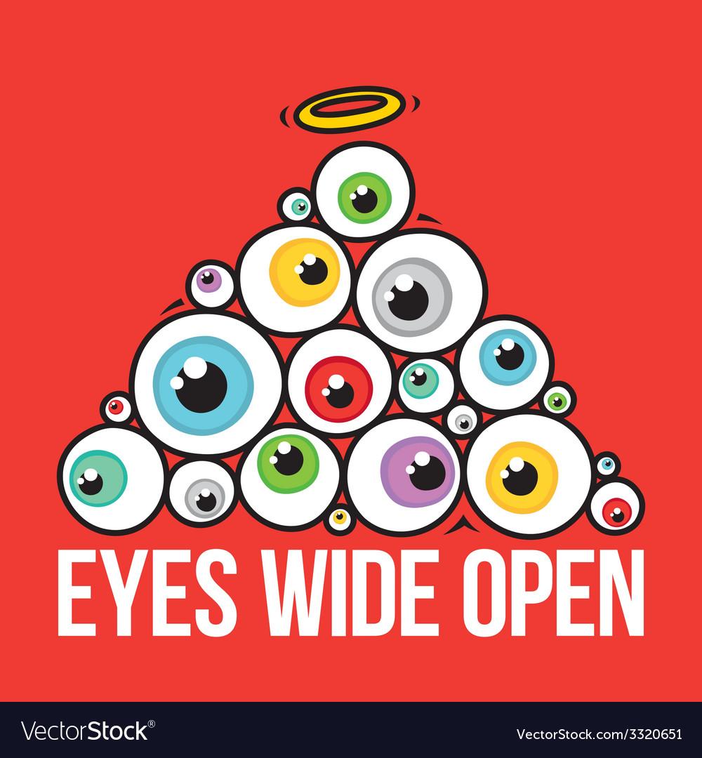 Eyes wide open pyramid vector | Price: 1 Credit (USD $1)