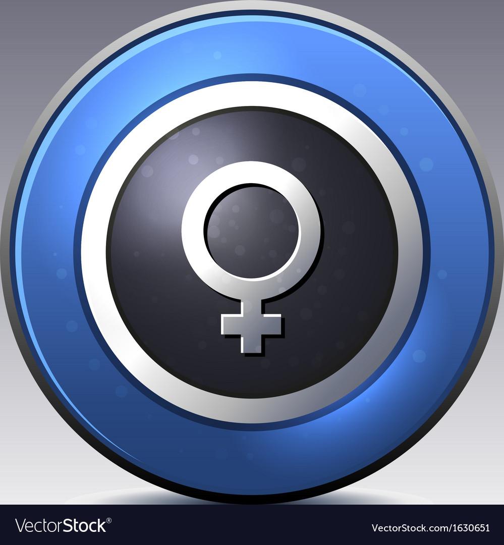 Female gender symbol vector   Price: 1 Credit (USD $1)