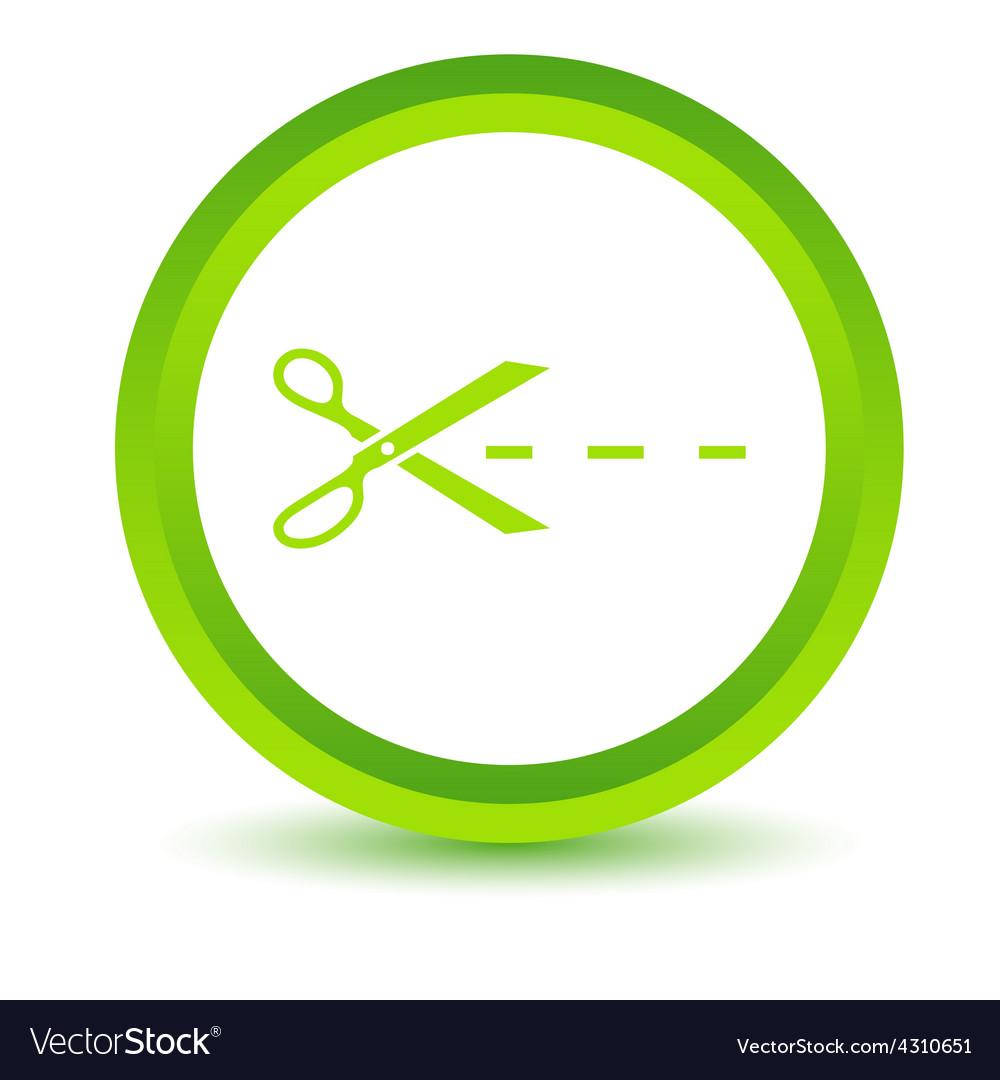 Green cut icon vector | Price: 1 Credit (USD $1)