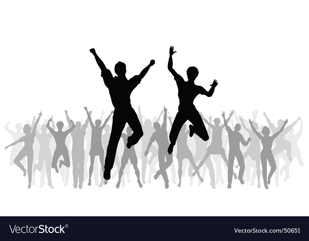 Jumping celebration vector | Price: 1 Credit (USD $1)