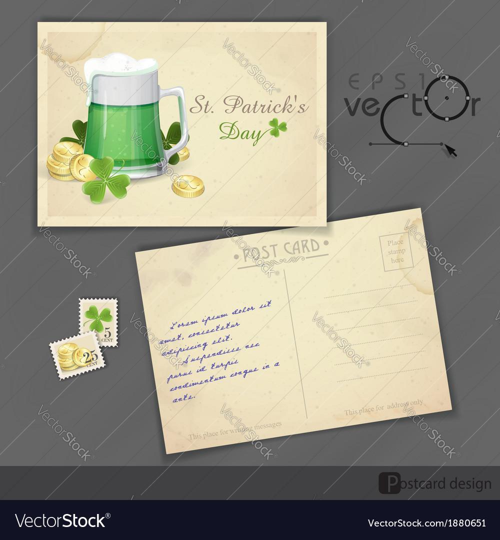 Mug of green beer for st patricks day vector | Price: 1 Credit (USD $1)