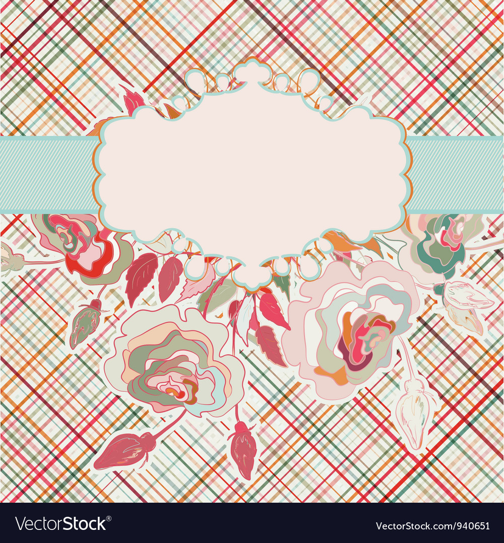 Romantic elegant floral with vintage roses eps 8 vector | Price: 1 Credit (USD $1)
