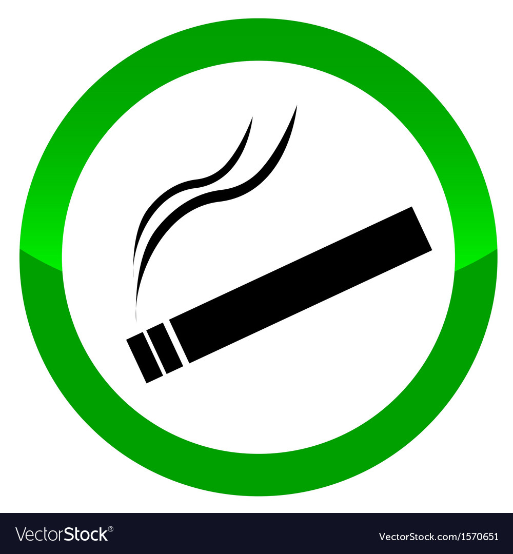 The sign smoking area vector | Price: 1 Credit (USD $1)