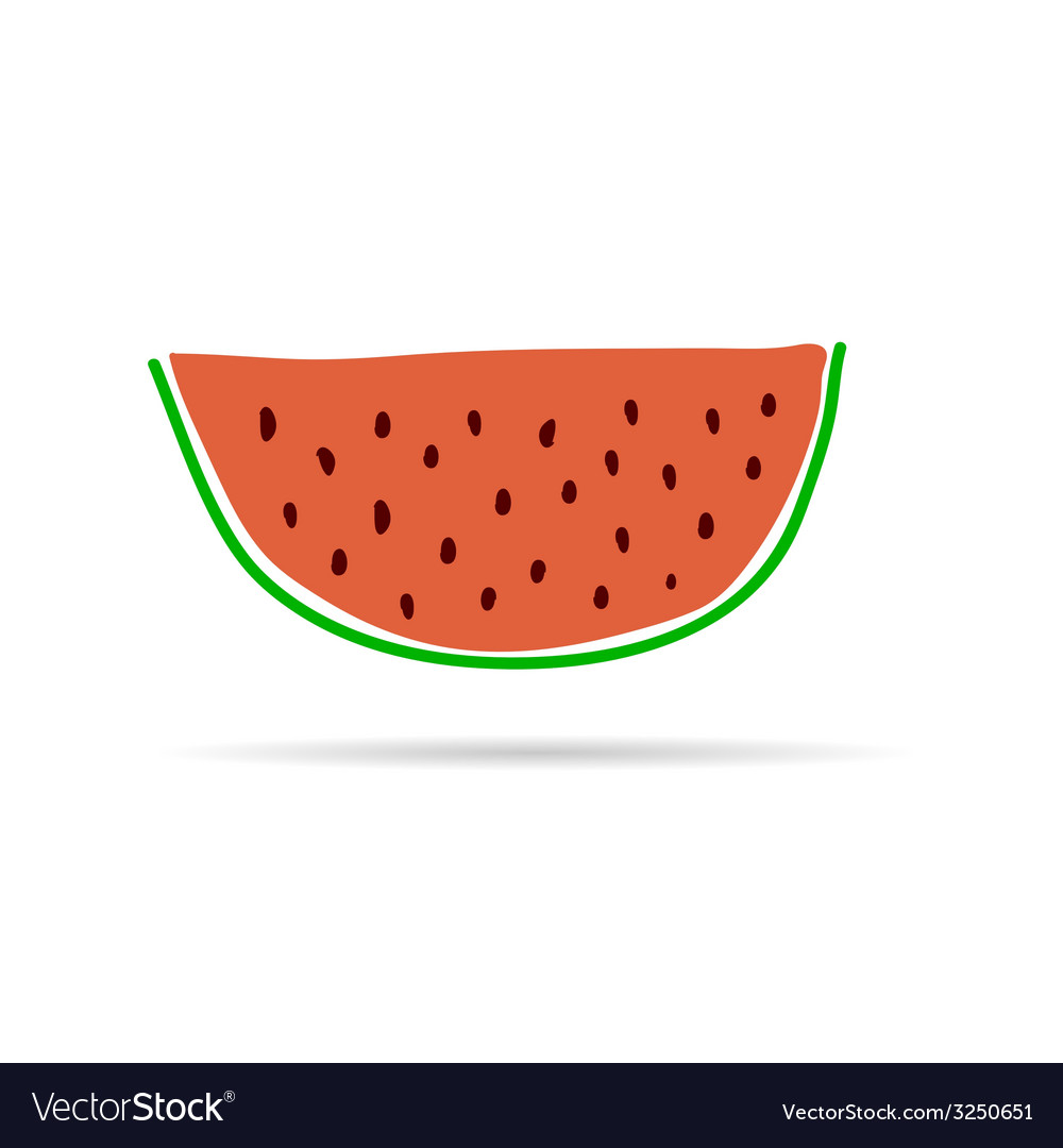 Slice of watermelon cartoon vector | Price: 1 Credit (USD $1)
