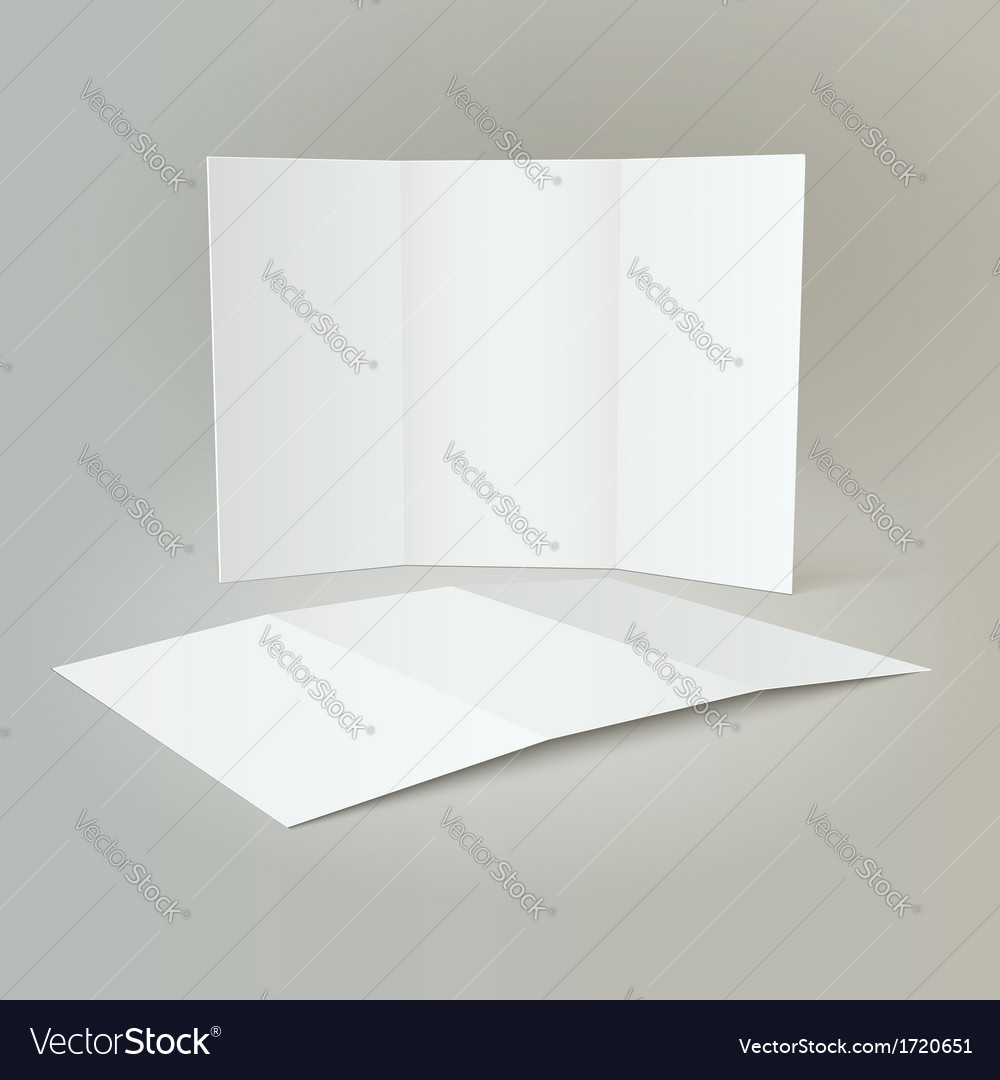 Tri-fold mockup  brochure design vector | Price: 1 Credit (USD $1)