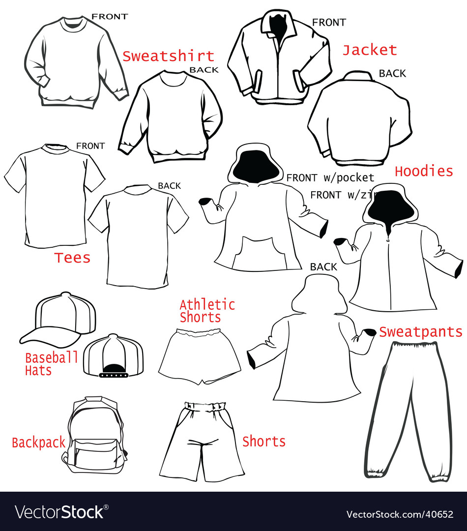 Clothing apparel templates vector | Price: 1 Credit (USD $1)