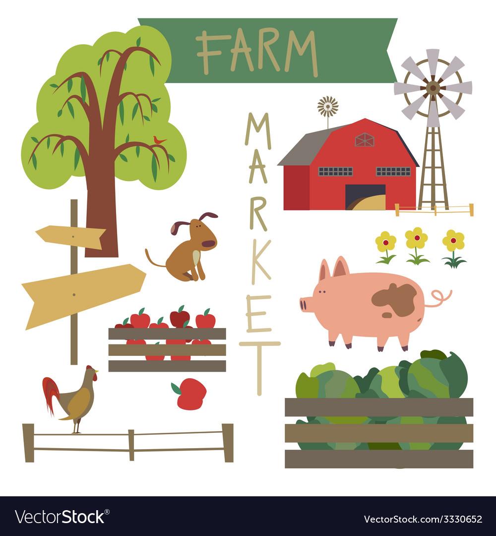 Farmer market vector | Price: 1 Credit (USD $1)