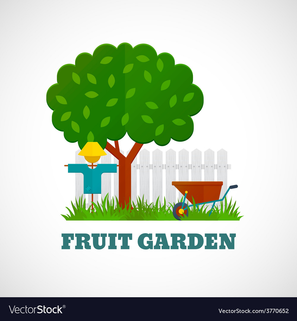 Fruit garden poster vector | Price: 1 Credit (USD $1)