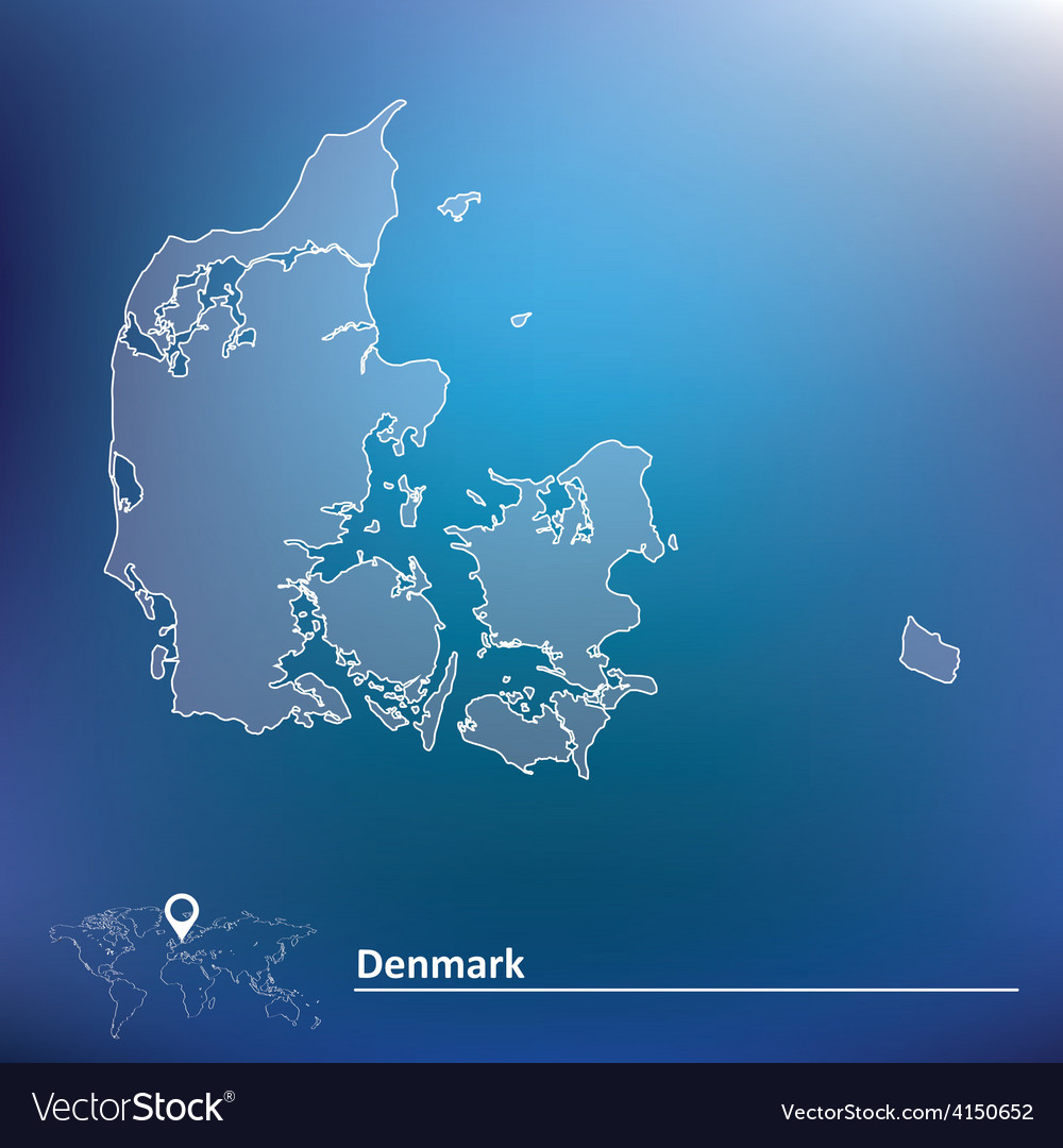 Map of denmark vector | Price: 1 Credit (USD $1)