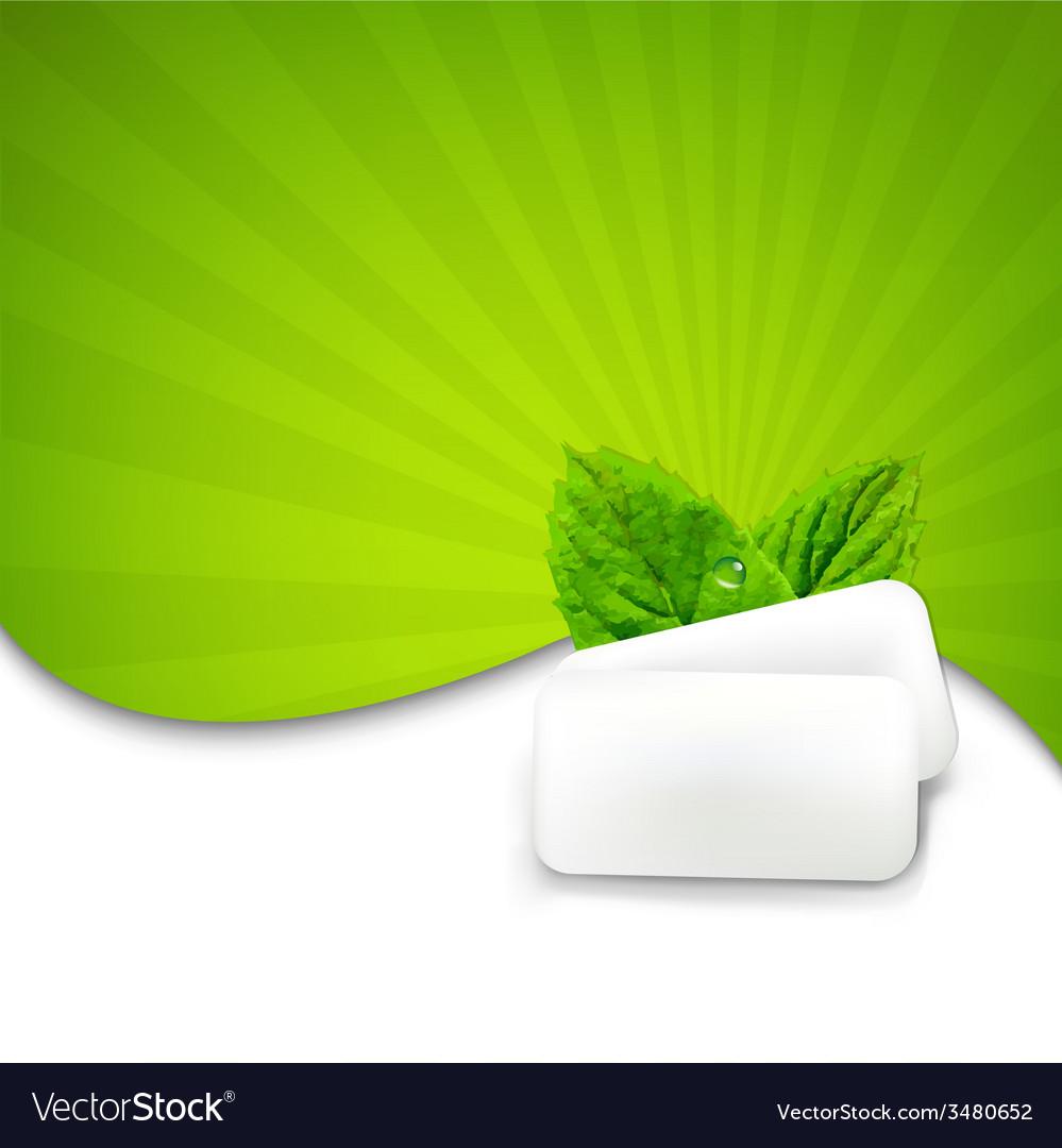 Mint gum with sunburst vector   Price: 1 Credit (USD $1)