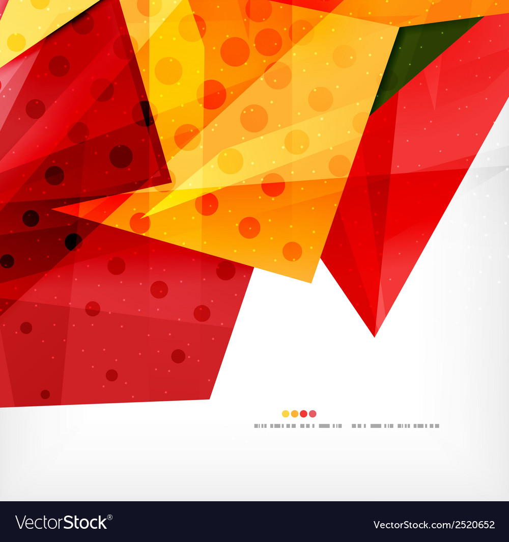 Modern 3d abstract shapes on white layout vector | Price: 1 Credit (USD $1)