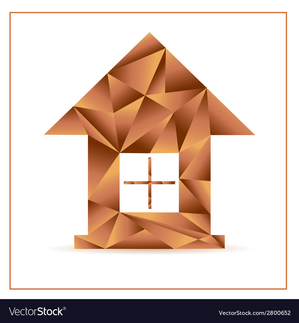 Origami house from triangles vector | Price: 1 Credit (USD $1)