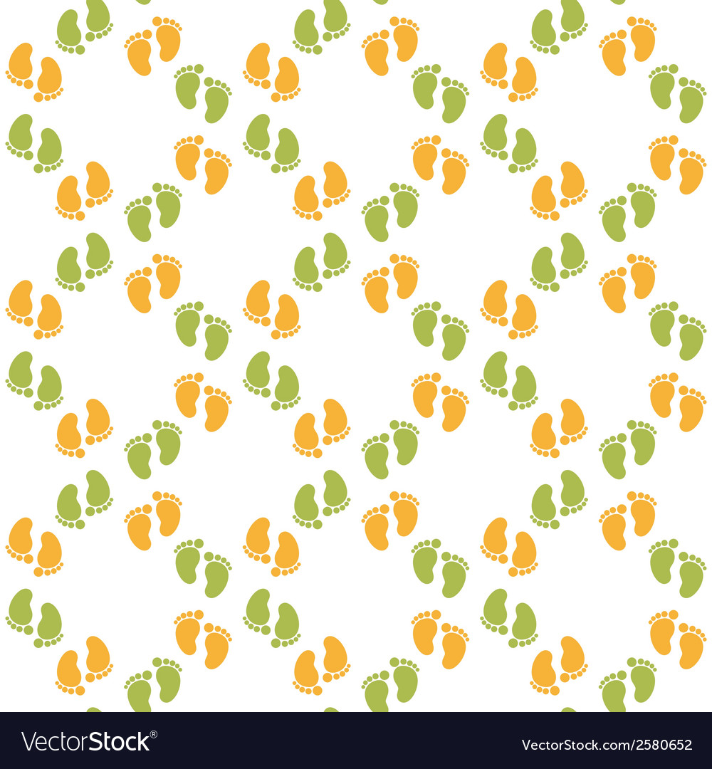 Seamless pattern with baby footprint vector | Price: 1 Credit (USD $1)