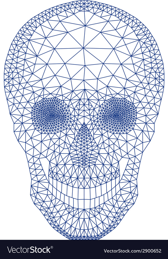 Skull with geometric pattern vector | Price: 1 Credit (USD $1)