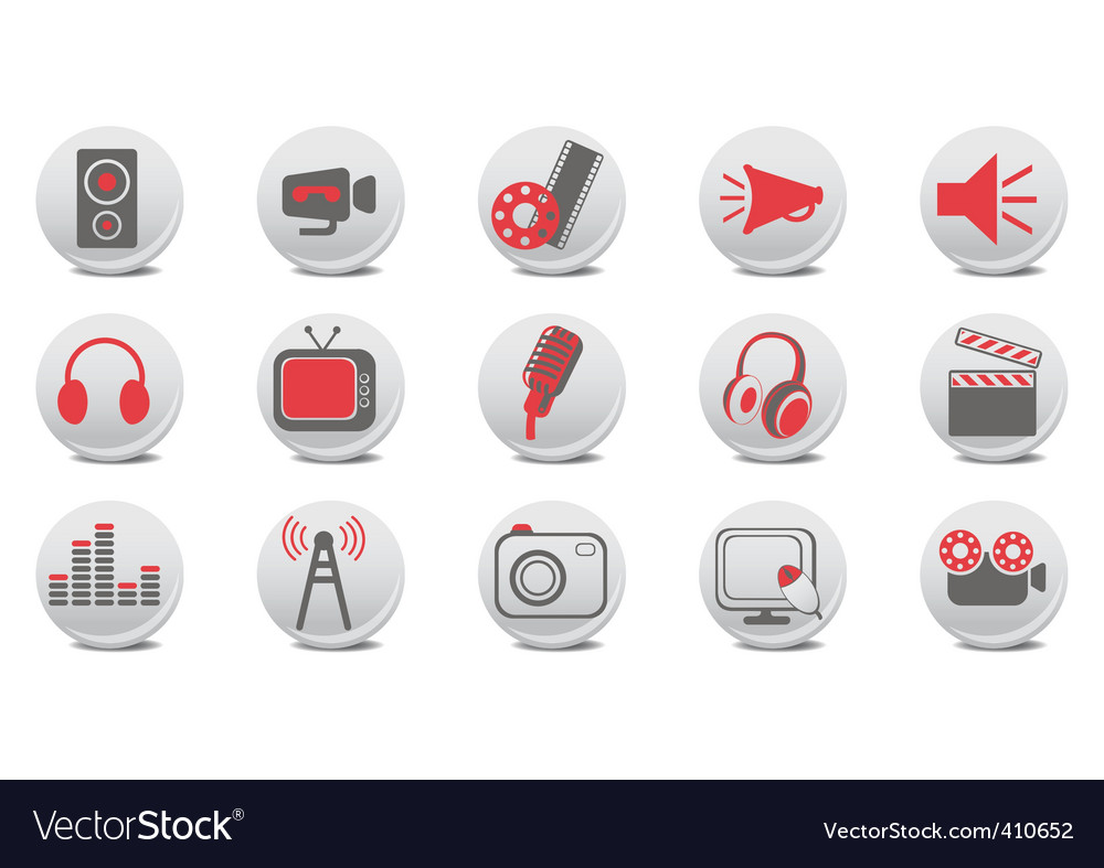 Video and audio buttons vector | Price: 1 Credit (USD $1)