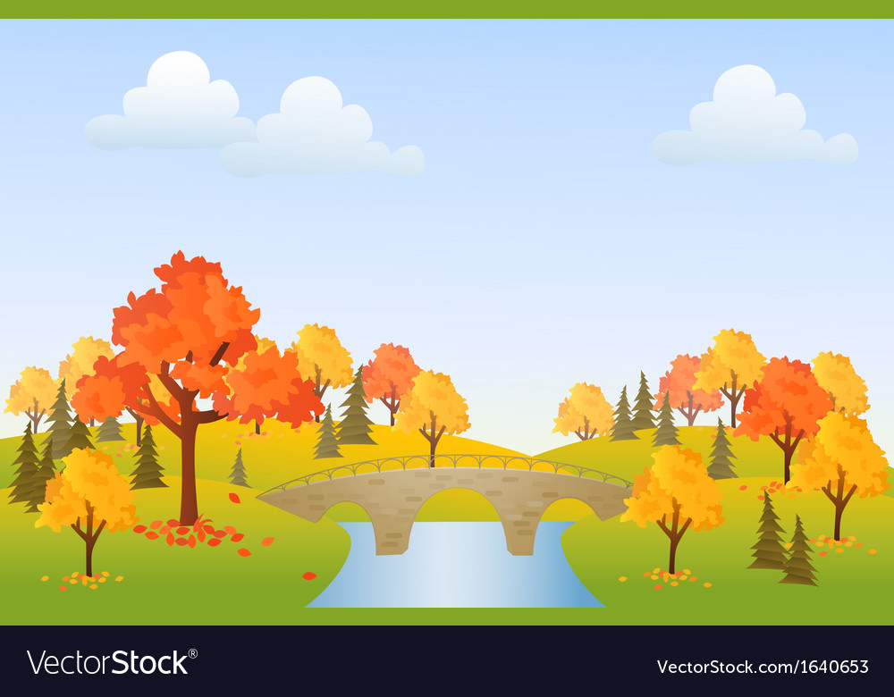 Autumn park vector | Price: 1 Credit (USD $1)