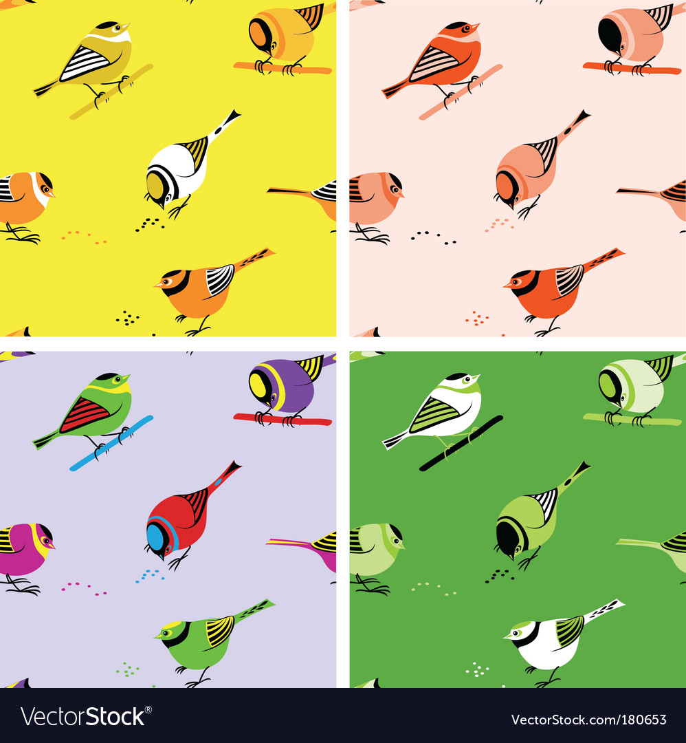 Birds seamless pattern vector | Price: 1 Credit (USD $1)