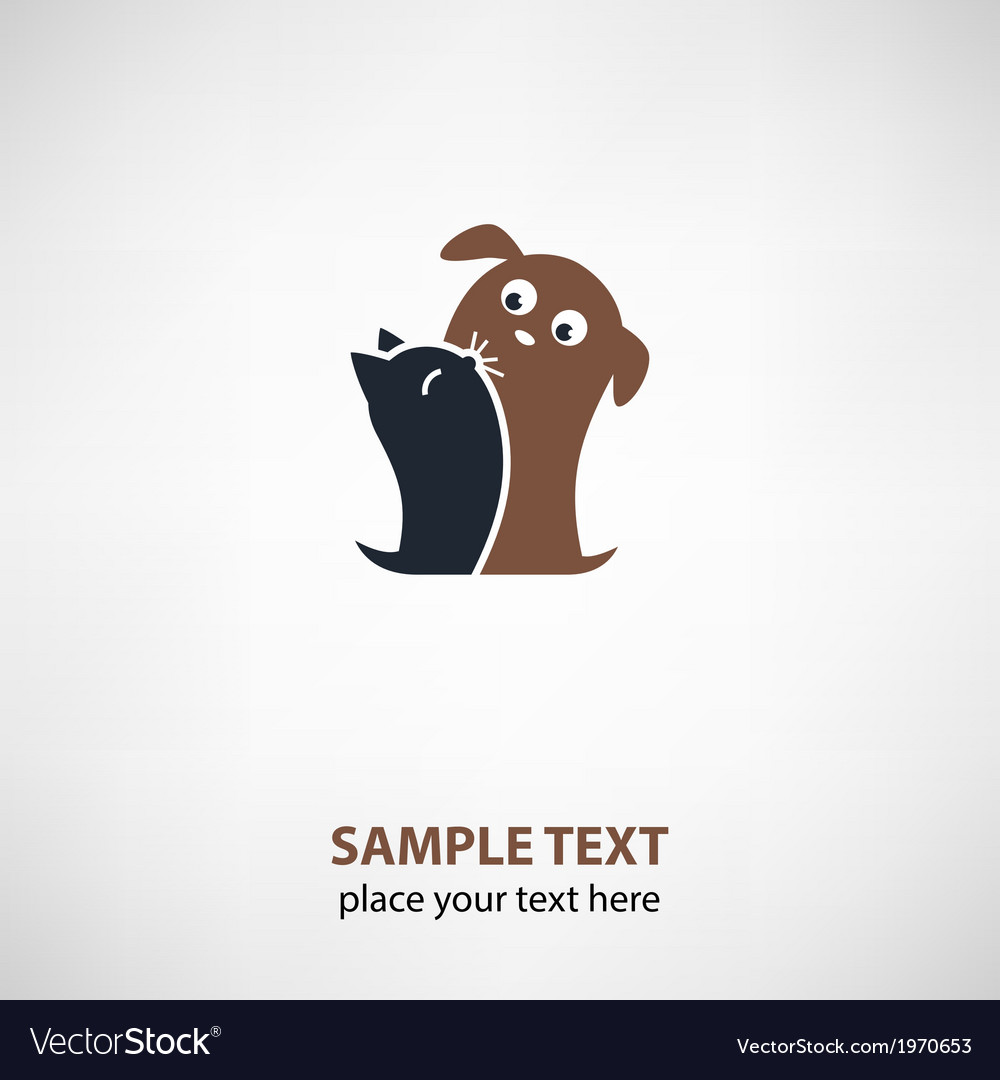 Cat and dog friends vector | Price: 1 Credit (USD $1)