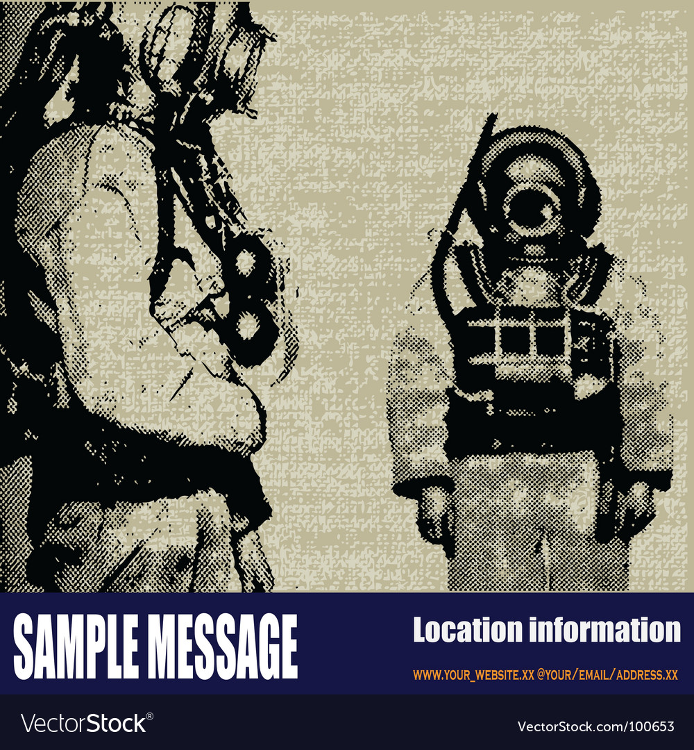 Deep sea diver background vector | Price: 1 Credit (USD $1)