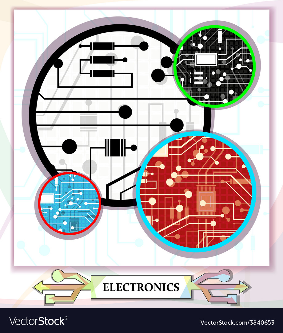 Electronic circuit background vector | Price: 1 Credit (USD $1)