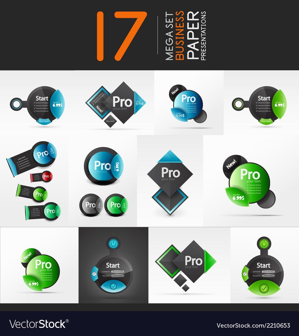 Geometric business presentation layouts vector | Price: 1 Credit (USD $1)