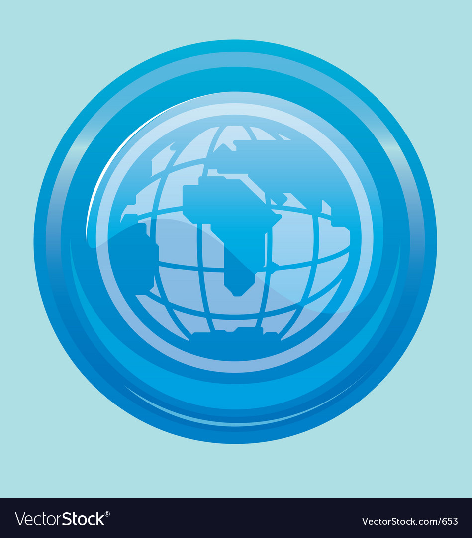 Globe button vector | Price: 1 Credit (USD $1)