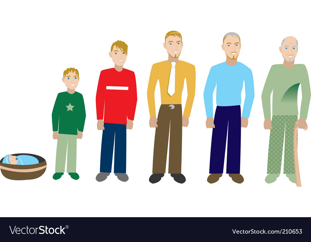 Male age progress vector | Price: 1 Credit (USD $1)