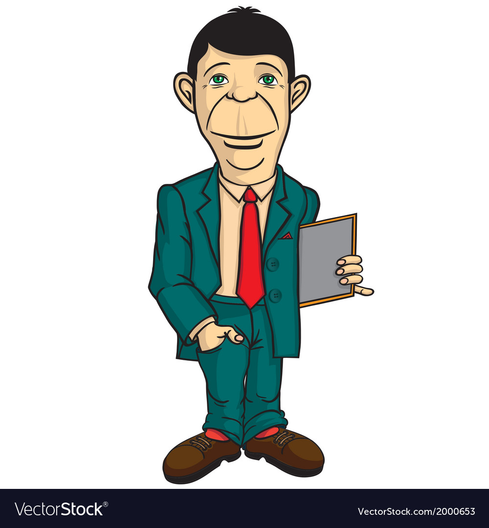 Man office worker vector   Price: 1 Credit (USD $1)