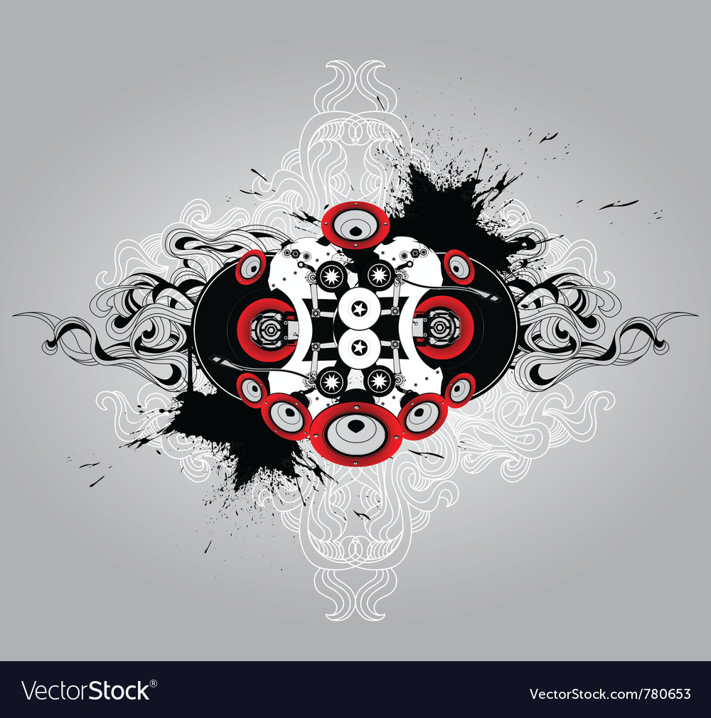 Vinyl player vector | Price: 1 Credit (USD $1)