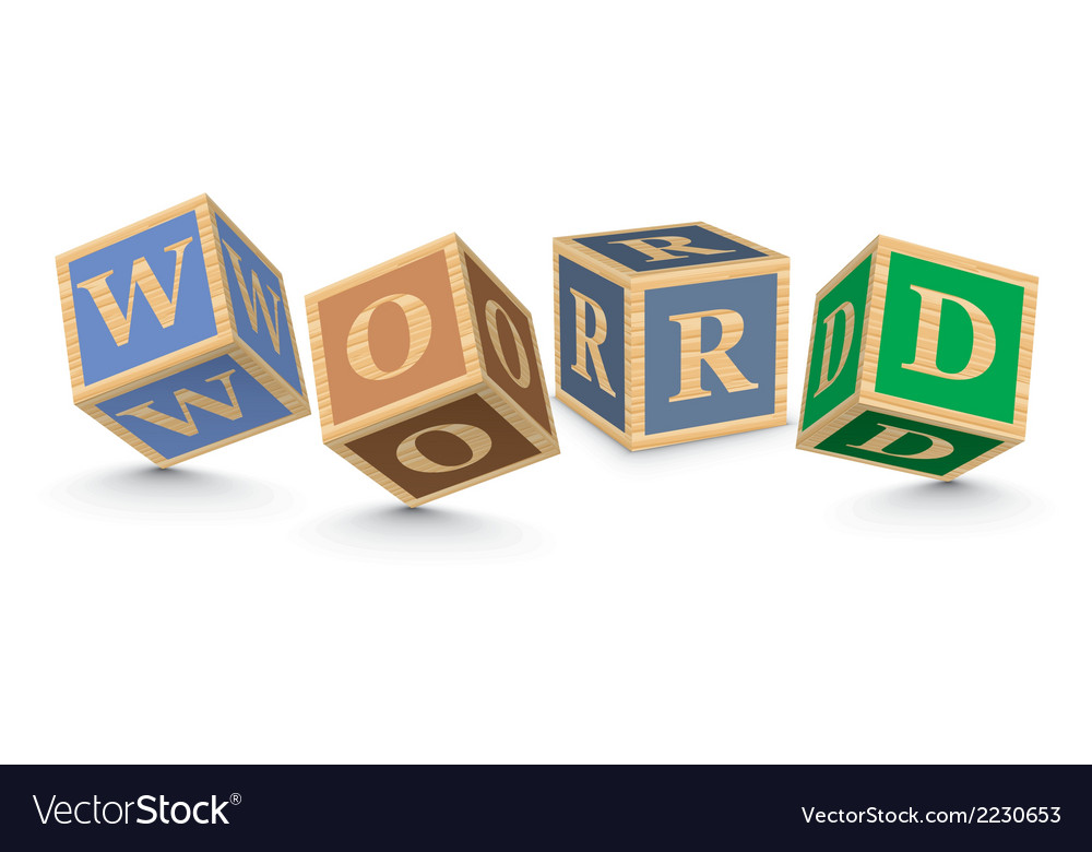 Word word written with alphabet blocks vector | Price: 1 Credit (USD $1)