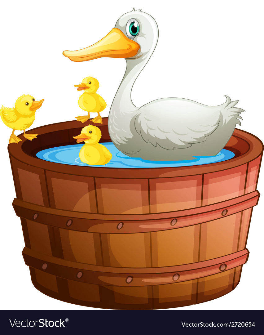 A bathtub with ducks vector | Price: 1 Credit (USD $1)