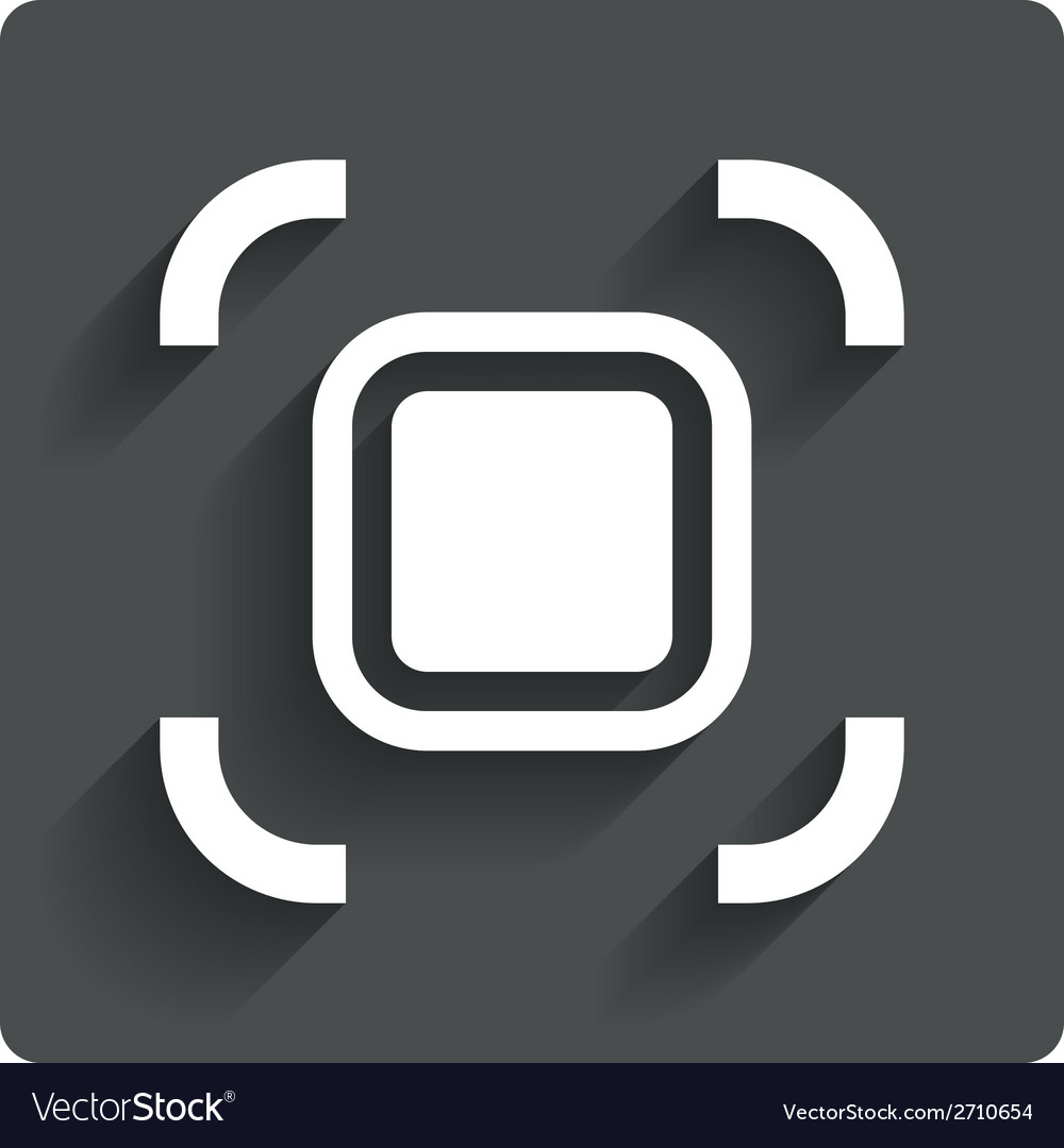 Autofocus zone sign icon photo camera settings vector | Price: 1 Credit (USD $1)