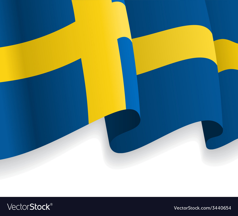 Background with waving swedish flag vector | Price: 1 Credit (USD $1)