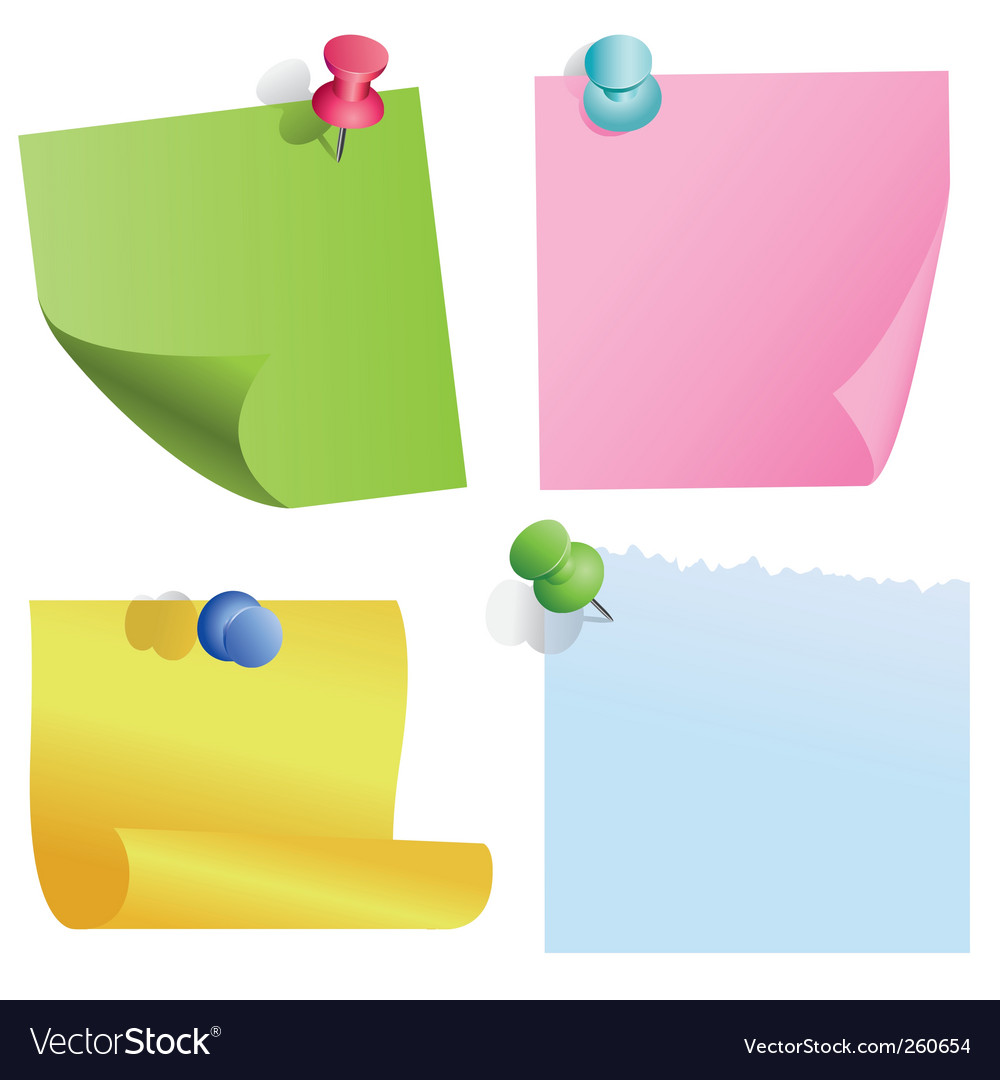 Blank color items vector