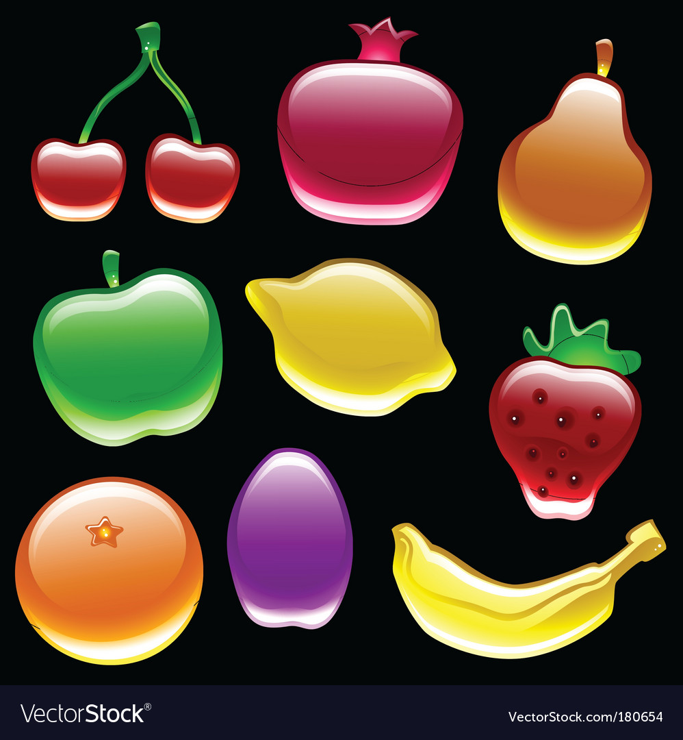 Fruit collection vector | Price: 1 Credit (USD $1)