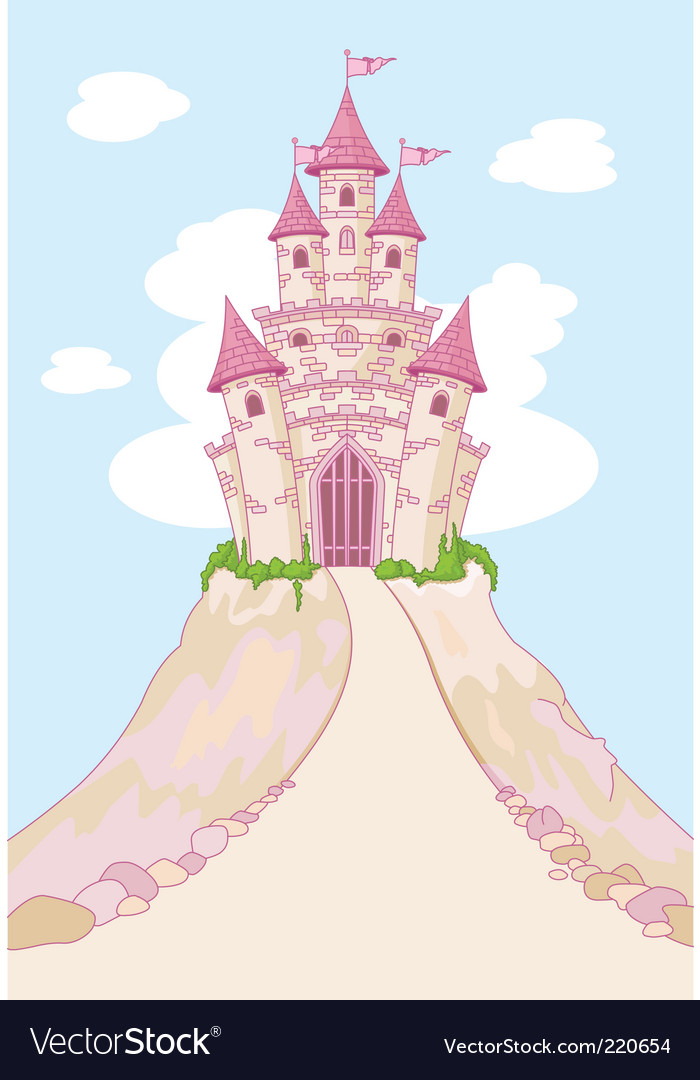 Magic castle invitation card vector | Price: 3 Credit (USD $3)