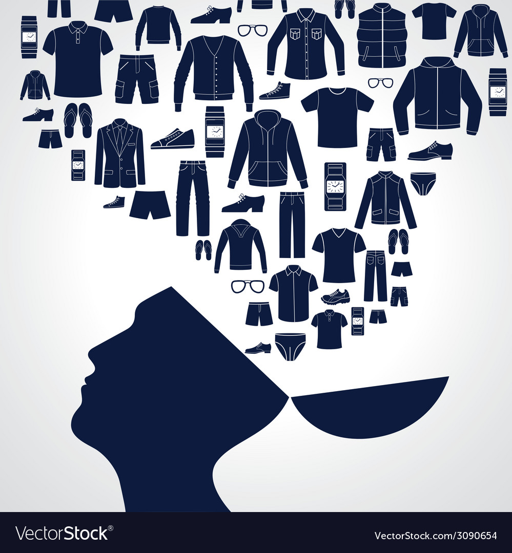 Men s fashion background vector | Price: 1 Credit (USD $1)
